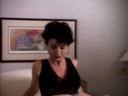 Nana Visitor - Doogie Howser, M.D. 1x05 The Short Goodbye (black bra)