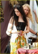 Lily Collins at Flea Market