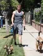 Kellan Lutz walking the dogs - July 15th, 2010 Ba38b888773065