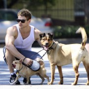 Kellan Lutz walking his dogs July 23rd D30ba489844050
